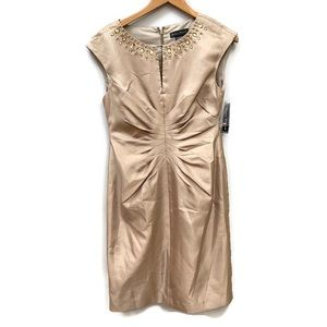 Jessica Howard champagne dress 8 Nwt